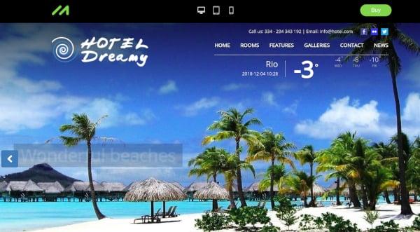 modern resort wordpress theme1