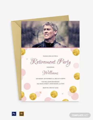 modern retirement party invitation