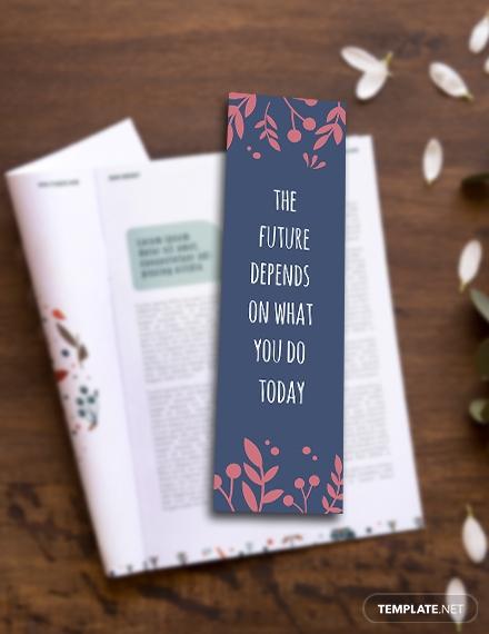 motivational bookmark template psd