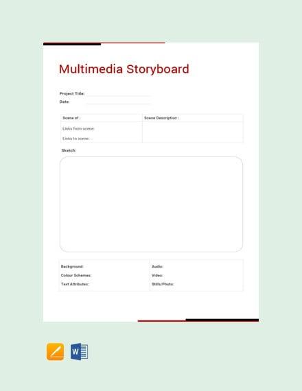multimedia storyboard template