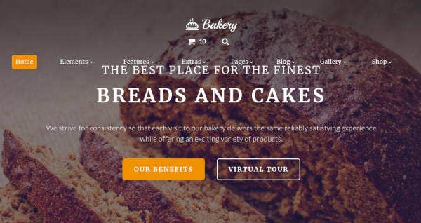 Multipurpose Bakery Website Template