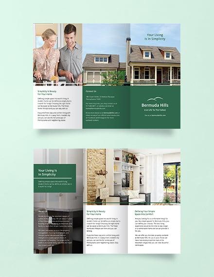 multipurpose green trifold brochure template