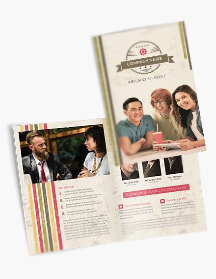 multipurpose retro bifold brochure template1