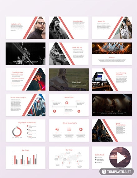 music powerpoint presentation template