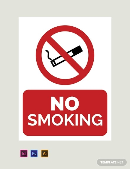 no smoking indesign template