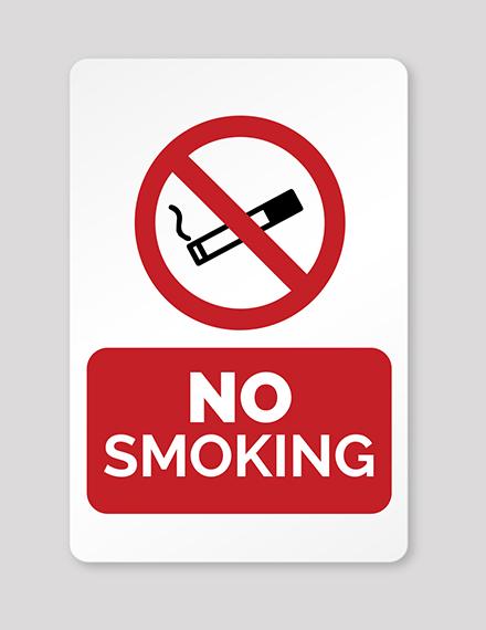 No Smoking Sign Template
