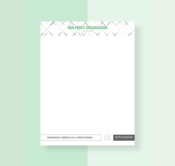 non profit organization letterhead template