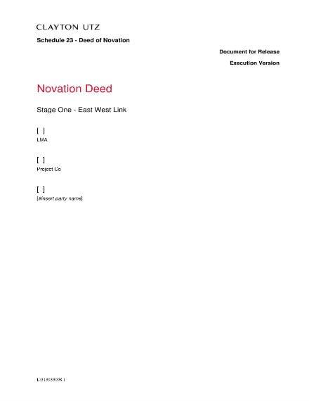 10 Novation Agreement Templates Free Premium Templates