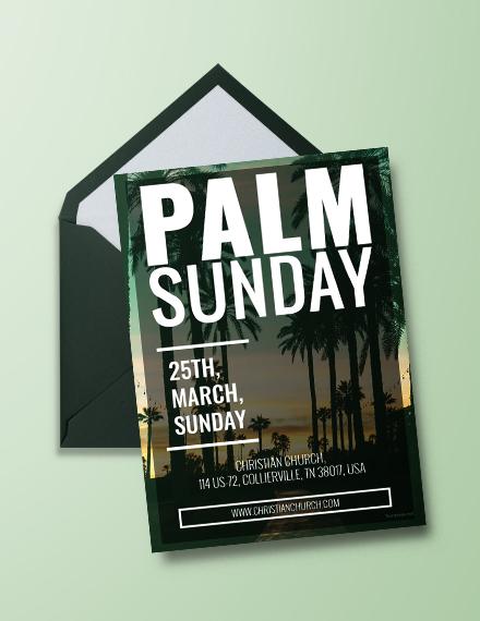 Palm Sunday Invitation Templat