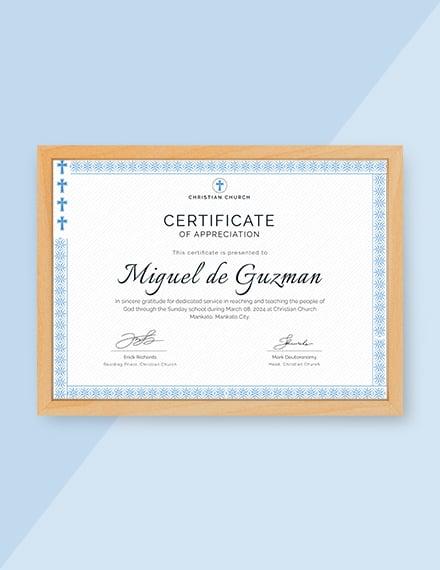 pastor appreciation certificate