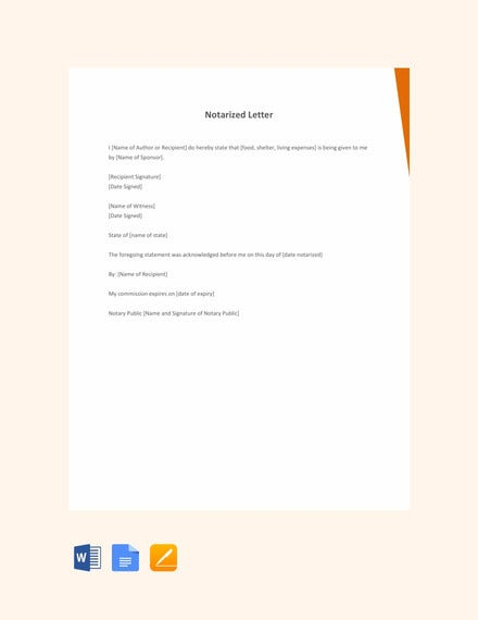 personal notarized letter template1