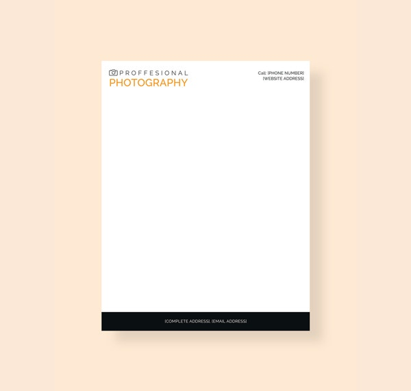 Photography Letterhead Template