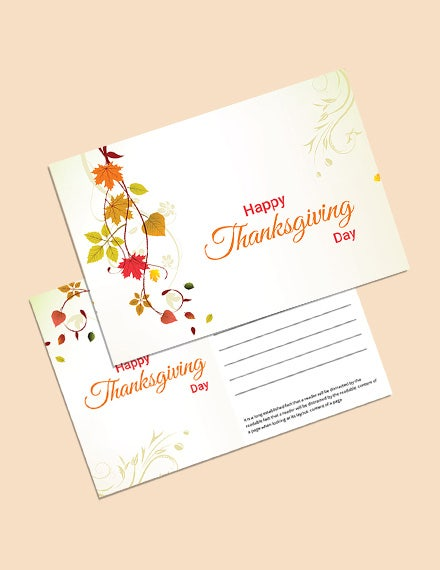 postcard for thanksgiving template