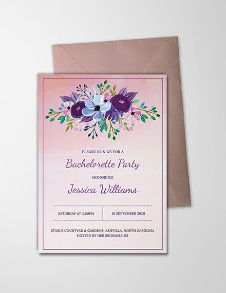 printable bachelorette party invitation template 3