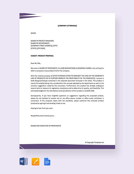product proposal letter1