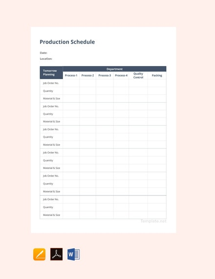production schedule template2