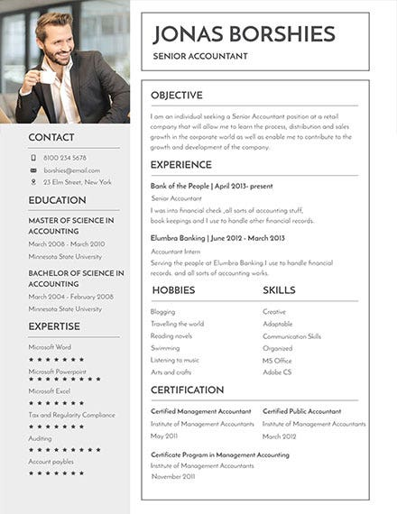 Professional Banking Resume Template