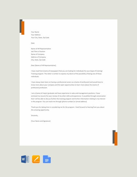 professional letter of interest template