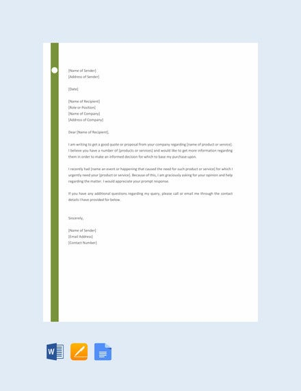 professional request letter template