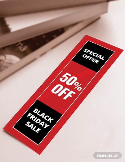 promotional bookmark template psd