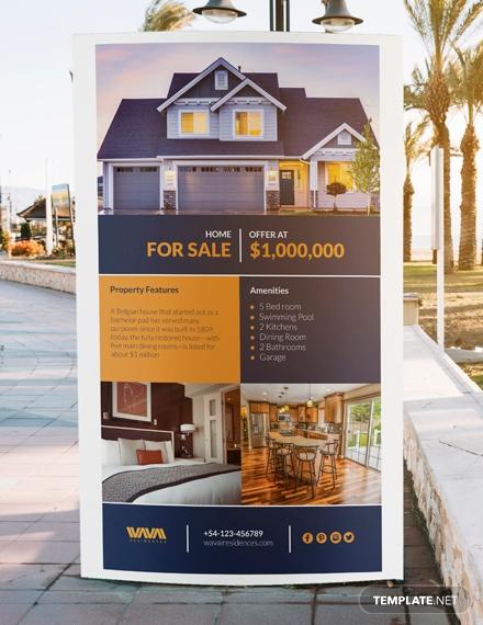 real estate listing digital signage psd template