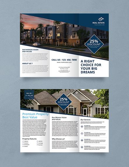 real estate trifold brochure sample
