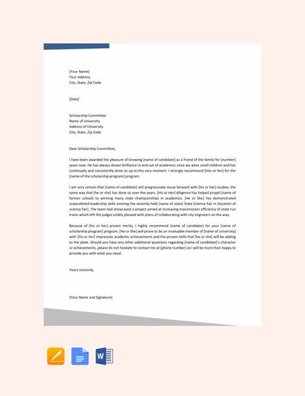 Example Scholarship Recommendation Letter from images.template.net