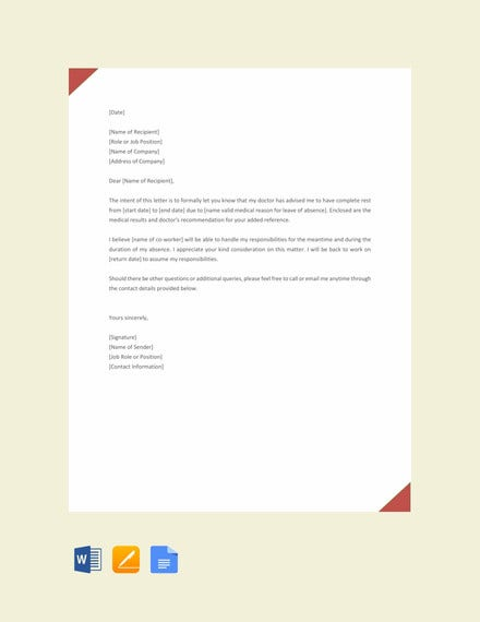 request letter for leave template1