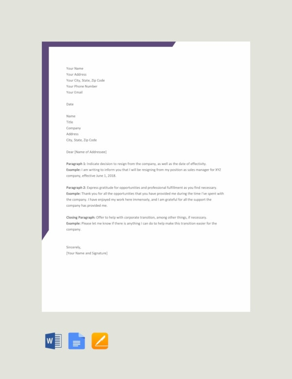 37+ Simple Resignation Letter Templates - PDF, DOC | Free ...