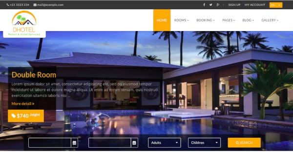 resort website example