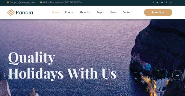 resort and hotel html template