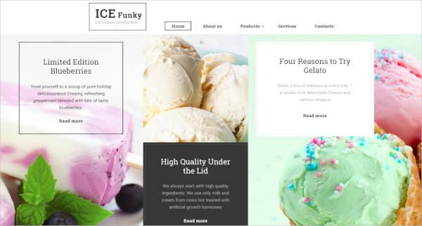 Responsive Ice Cream Website Template