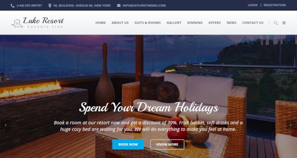 responsive resort and hotel html template