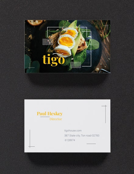 restaurant business card template in psd