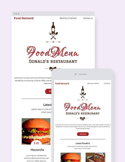 restaurant christmas newsletter template