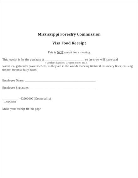 restaurant food bill receipt