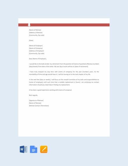 retirement letter format1
