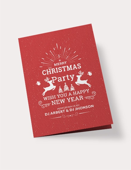 retro christmas bi fold brochure template