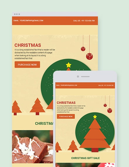 retro christmas email newsletter template