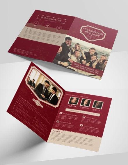Retro Multipurpose Bifold Brochure Template1