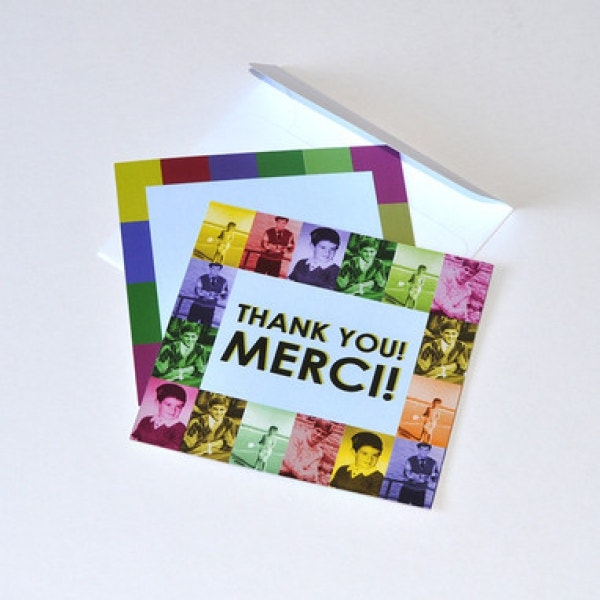 retro thank you invitation sample
