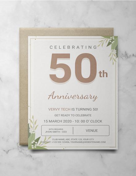 Rustic Corporate Anniversary Invitation Template
