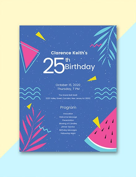 sample birthday program template