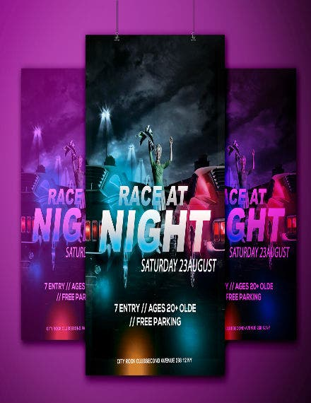 sample car racing flyer