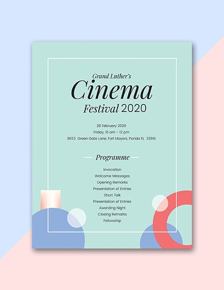sample event program template