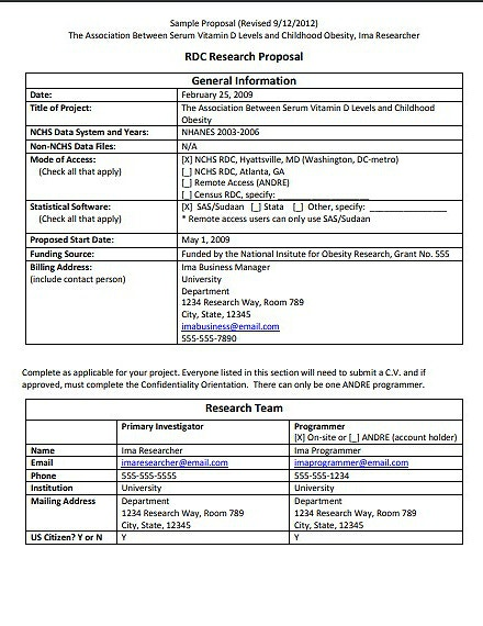 sample research proposal template