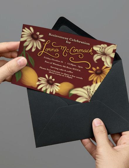 sample retirement celebration invitation template