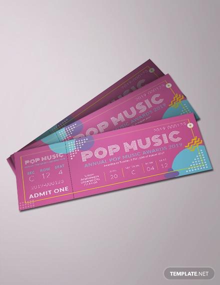 sample ticket template psd