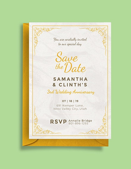 save the date anniversary invitation sample