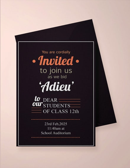 school farewell party invitation template